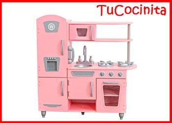 cocinita madera rosa